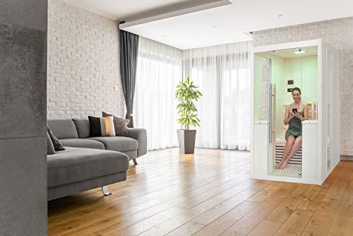 Infrarotkabine WELCON® Easytherm Duo - Massivholz Sauna für zwei Personen - Neuheit - Markteinführungspreis