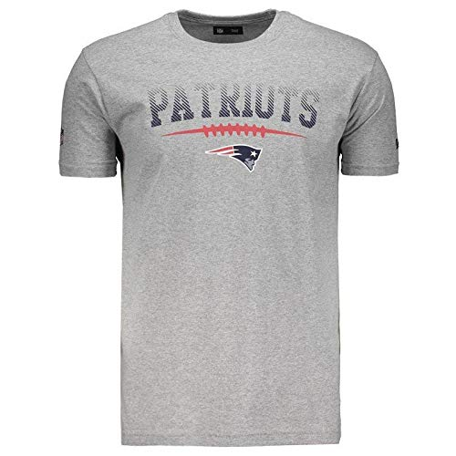 Camiseta New Era NFL New England Patriots Cinza