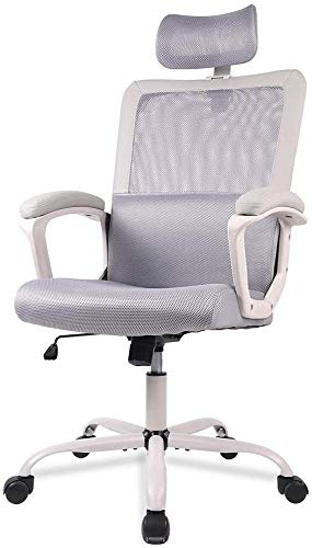 Office Chair, Ergonomic Mesh Computer Chair with Adjustable Headrest Lumbar Support Armrest High Back Swivel Desk Chair
