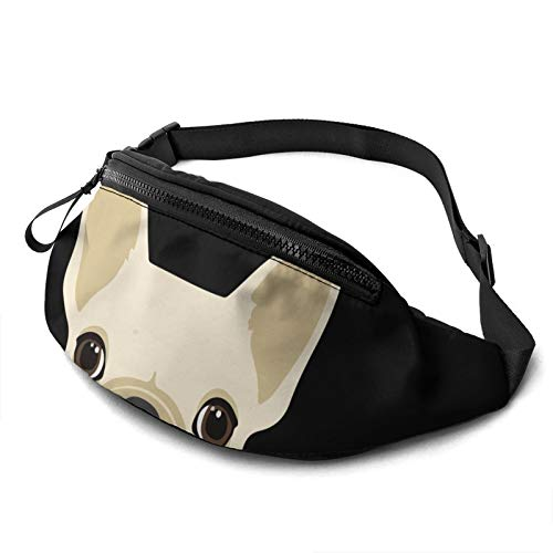 Fanny French Bulldog Casual Fanny Waist Pack For Men Women Adjustable Belt Waist Bag For Traveling Hiking Cycling Running Festival Rave