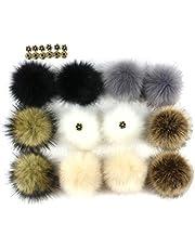 NUOBESTY 12pcs pompones para sombreros zapatos bufandas llaveros decoración suave de la felpa para las mujeres niños