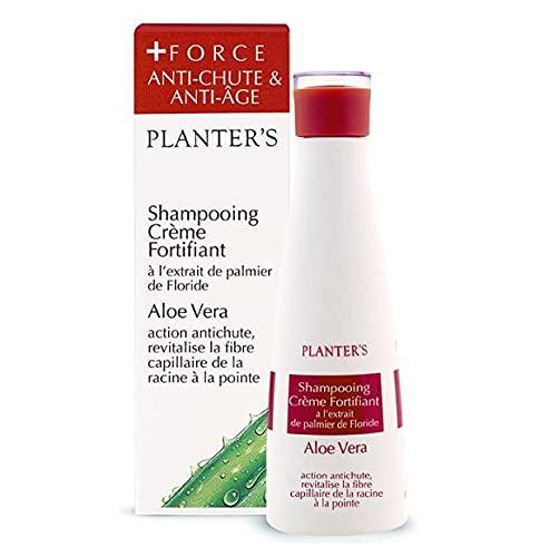 Planter's - Shampoo Vigore all'Aloe Vera. Shampoo fortificante anticaduta per capelli fragili. Con vitamine, creatina e serenoa repens. 200 ml