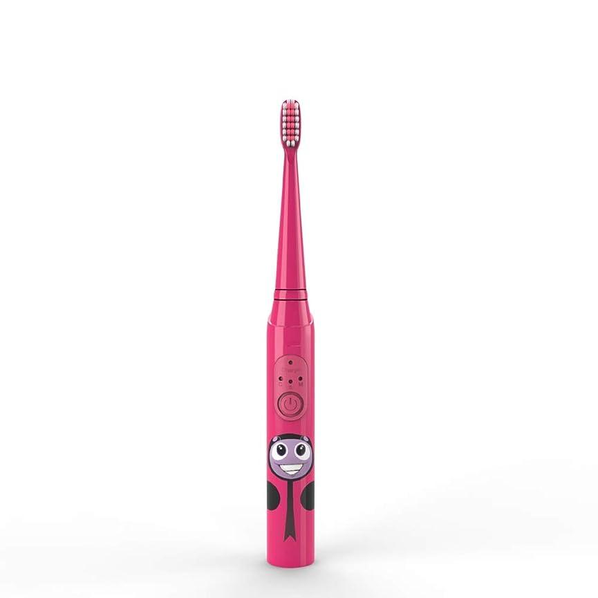 うるさい情熱軽子供の電動歯ブラシUSB充電式保護清潔で柔らかい毛の歯ブラシ 完全な口腔ケアのために (色 : 赤, サイズ : Free size)
