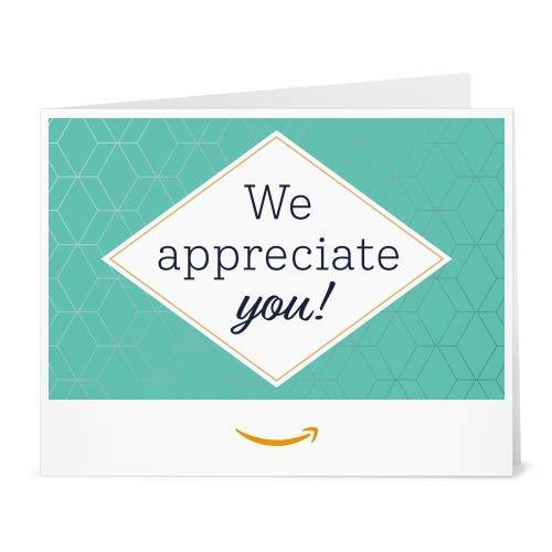 Amazon Gift Card - Print -We Appreciate You- Hex pattern
