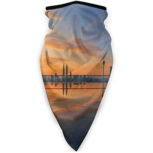 Face Scarf Magical Sunrise at The Pond with Reflected Sky View Morning Serene Silent New Day Image Warmer Scarf