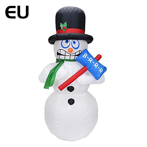 Muñeca Hinchable, muñeco de Nieve Hinchable, muñeco de Nieve, muñeco de Nieve, Joyas de Navidad con 3 Luces LED, para Exterior, Interior, jardín, Navidad, Alta 1,8 m
