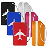 Leful 6 pcs <span class='highlight'>Luggage</span> <span class='highlight'>Tags</span>, Lightweight Travel ID Bag Tag Aluminium Name Address Holder Suitcase Bag Labels for Travel Bussiness Trip