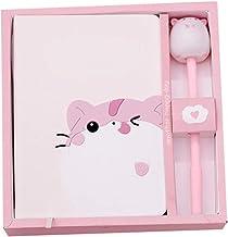 Huaji Cartoon Cute Notebook Cats Notepad Cute Diary Book Set Imitation Leather Wireless Binding Notebook
