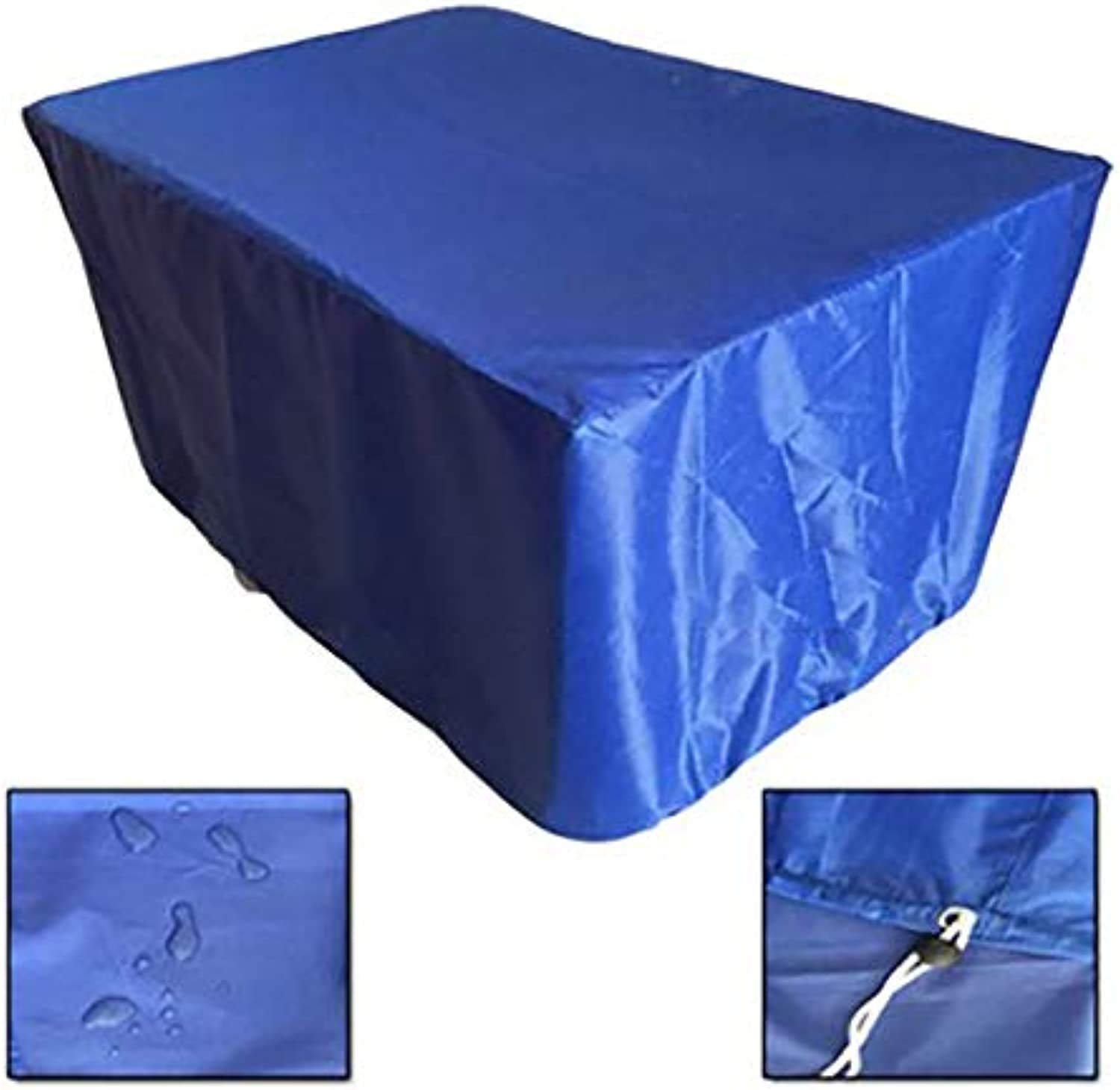 AY-cover Dust Guard Predective Cover Dust Guard Furniture Dust Cover, PU Coated Polyester, Outdoor Garden Table and Chair Waterproof Cover (color   bluee, Size   123  123  74cm)