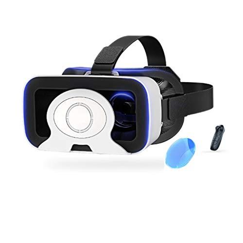 LIUZH 2021VR Auriculares, VR Realidad Virtual Auriculares VR Gafas para películas 3D VR Videojuegos para iPhone 12/11/X/8/7/6 para Samsung S10/S9/Note10/9 teléfonos Android 4.7-6.8 pulgadas, H082ZJ