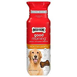 Milk-Bone Good Morning Daily Vitamin Dog Treats for Healthy Joints, 15 Ounces