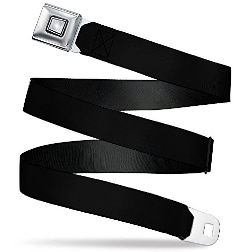 Belt Seatbelt Buckle Black 32 to 52 Inches