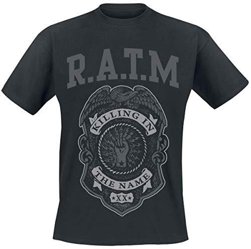 Rage Against The Machine Police Badge T-Shirt Noir L