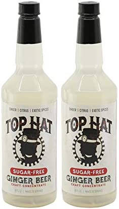 Top Hat Sugar Free Ginger Beer Concentrate Zero Calorie Moscow Mule Mix 2 pack 32oz bottles product image
