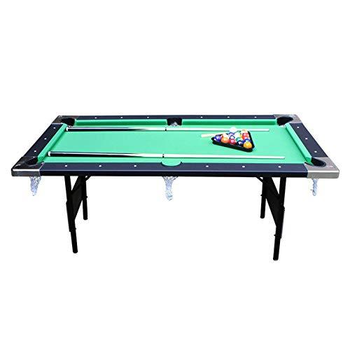 LIU WU FENG Tabla de Billar, Snooker Infantil, Mesa de Billar para el hogar Plegable, Juego de Mesa de Rompecabezas 1 Mesa de Billar Plegable (Verde) (Size : 183CM)
