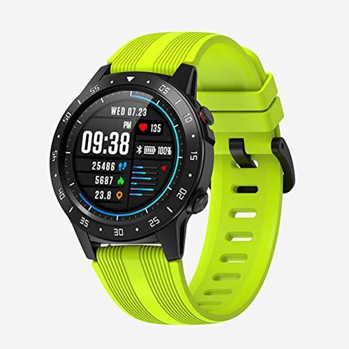 LSQ Smartwatch, M5S GPS Smart Watch Uomo Indipendente Cartoon Words Cartoon Mountain Monitor IP67 Bussola Impermeabile Barometro Meteo,B