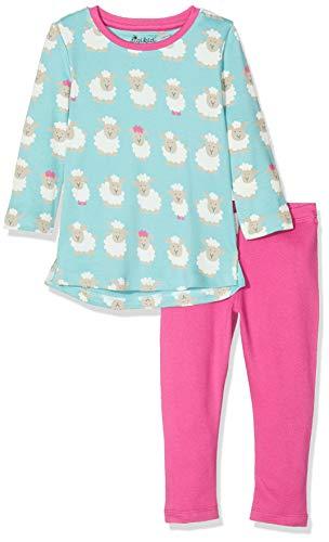Sigikid Mädchen Pyjama Zweiteiliger Schlafanzug, Mehrfarbig (Blau 755), Herstellergröße: 116