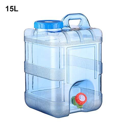 Tragbarer Wasserkanister mit Griff und Festmontiertem Ablasshahn, BPA-frei Wassertank für Fahrzeug Camping Outdoor Lange Reise 15/20L