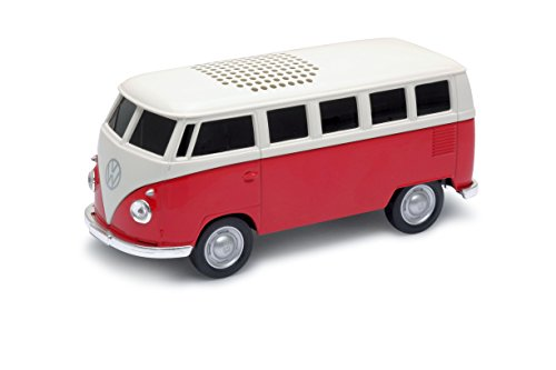 AutoDrive VW Bus T1 - Bulli Lautsprecher (Bluetooth, Akku, Inkl. AUX, Micro USB-Anschluss) rot