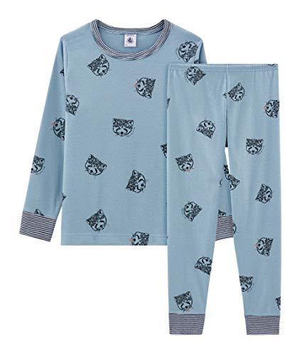 Petit Bateau Jungen Pyjama_4984501 Zweiteiliger Schlafanzug, Mehrfarbig (Acier/Multico 01), 98 (Herstellergröße: 3ans/95cm)