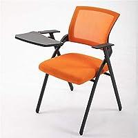 図面デザイン 折りたたみオフィスチェア、屋内使用オフィス会議室、メッシュ背もたれ椅子多機能表ボードを搭載したコンピュータチェア オフィスの必需品 (Color : B, Size : 47*47*88CM)