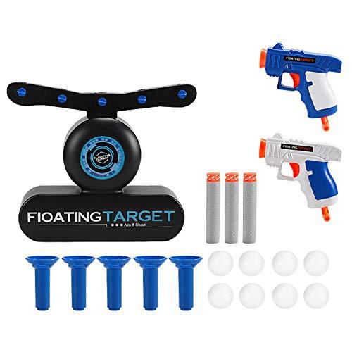 DRAKE18 Juego de Tiro con Pelota Flotante Hover Target Dardo de Juguete Juego eléctrico de Tiro de Bola de Espuma Playsets de interacción Ajustable para niños 2 Jugadores de Armas