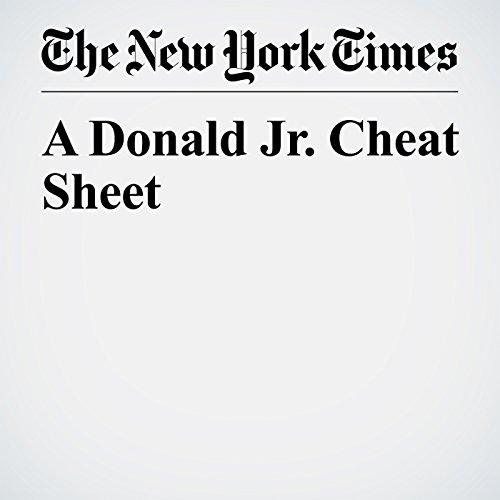 A Donald Jr. Cheat Sheet copertina