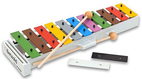 Sonor Schüler-Glockenspiel B, Xylophon mit 7 Melodieblättern - Stabspiel Schlaginstrument Kinder Musikschule Musikunterricht Schule Schüler musizieren Instrumente lernen Glocken-Spiel
