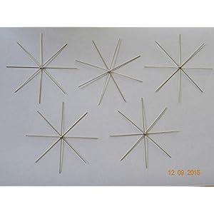 5 Drahtsterne – Auswahl 5 bis 20 cm – Perlensterne –