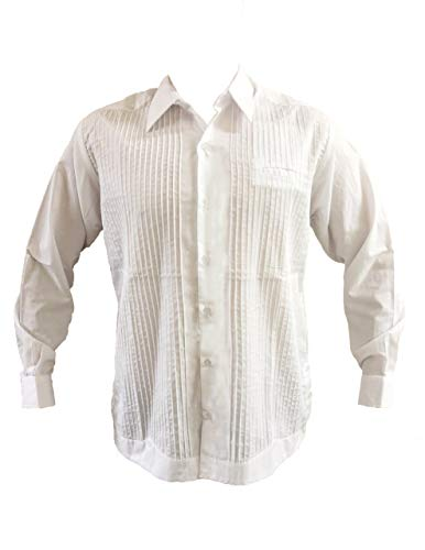 Guayabera blanca tradicional, estilo presidencial, popelina fina, camisa de manga