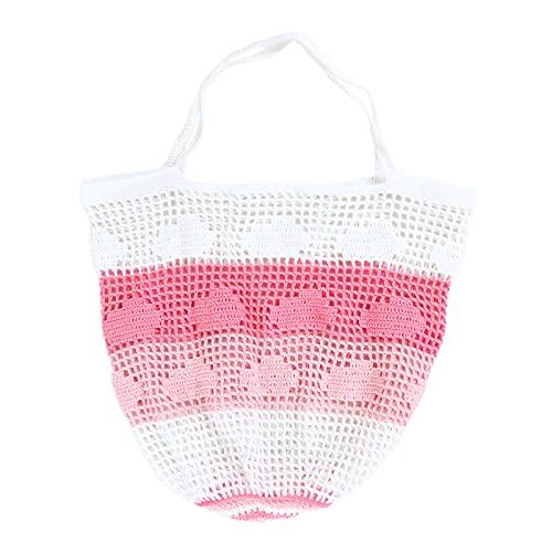 YST Bingling Hollow Fishing Net Bolsa Material Paquete Lana Tejido Material Paquete Crochet Gancho es hecho a mano Hilado DIY Encaje
