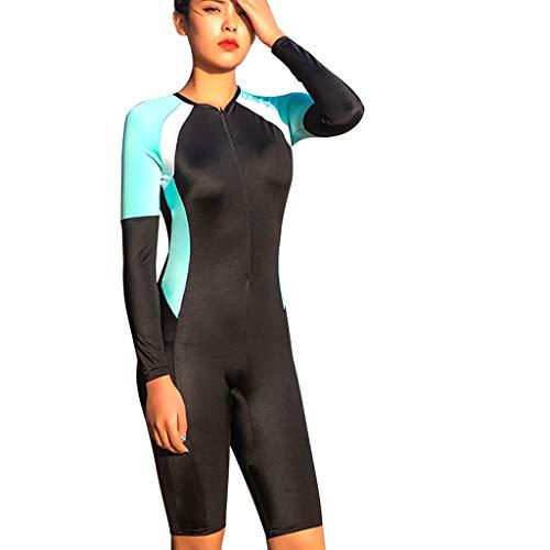 AIni Damen Neoprenanzug,Shorty Sport Wetsuit Schwimmen Surfanzug Surfen Tauchen Schnorcheln Neu Neopren Zurück Neoprenanzug Scuba Taucheranzug(L,Blau)