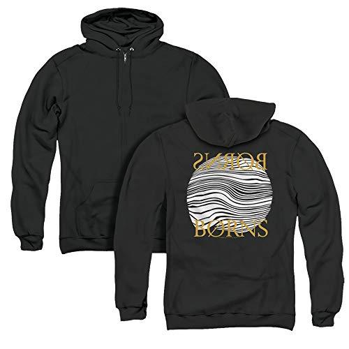 Trevco Borns Thumbprint Unisex Adult Zipper Hoodie, Back Print, 3X-Large Black