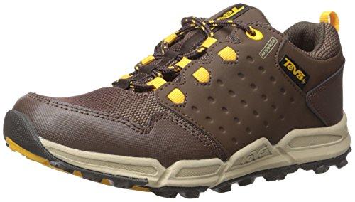 Teva Wit, Chaussures de Randonnée Basses Garçon, Marron (Chocolate/Yellow/Cylw), 30 EU
