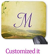Aidabo Italian Countryside Monogram Initial Mouse Pads Trendy Office Accessories