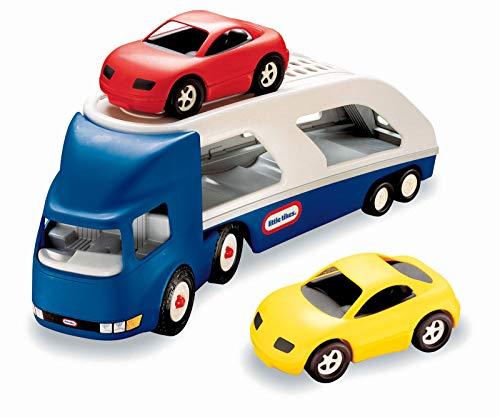 Little Tikes Grand Porte-Voitures - Grand transporteur avec 2 voitures de sport - Des heures de plaisir - Utilisation intérieure ou extérieure