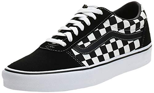 Vans Herren Ward Canvas Sneaker, Schwarz ((Checker) Black/True White Pvj), 45 EU