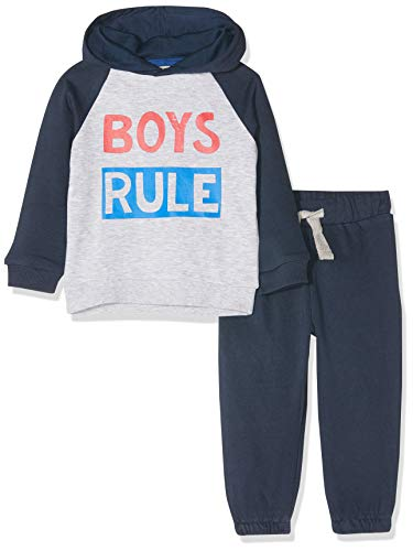 ZIPPY baby-jongens jogging set fleece jurk blauw joggingpak