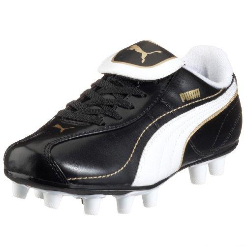 PUMA v5.10 i FG Jr 101830 06, Scarpe da Calcio Donna, Nero (Schwarz (Black-White-Teamgold01), 37 EU