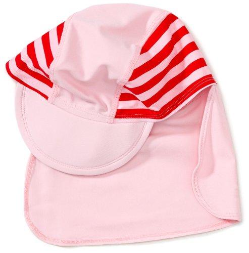 Playshoes Unisex - Baby Babybekleidung/ Badebekleidung UV-Schutz nach Standard 801 und Oeko-Tex Standard 100 Bademäftze mit Streifen 460049, Gr. 49, Rosa (788 rot/rosa)