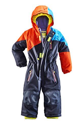 Killtec Unisex Kinder Kesley Mini Skioverall/Schneeanzug Mit Kapuze, 10.000 Mm Wassersäule, Wasserdicht, dunkelnavy, 98/104