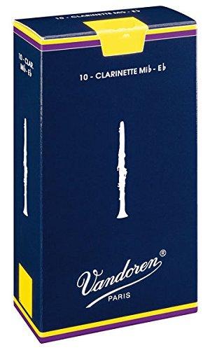 CAÑAS CLARINETE Eb (REQUINTO) - Vandoren (Tradicional) (Caja Azul) (Dureza 2 ½) (Caja de 10 Unidades