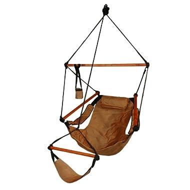 Hammaka Hanging Hammock Air Chair, Wooden Dowels, Tan