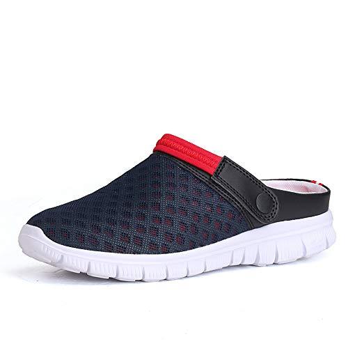 Hombres Zapatillas De Malla Transpirable para Mujer Zapatos De JardíN Sandalias De Playa Antideslizante Ligero Hueco Deportes Al Aire Libre Y Ocio Zapatillas De Verano 36-46