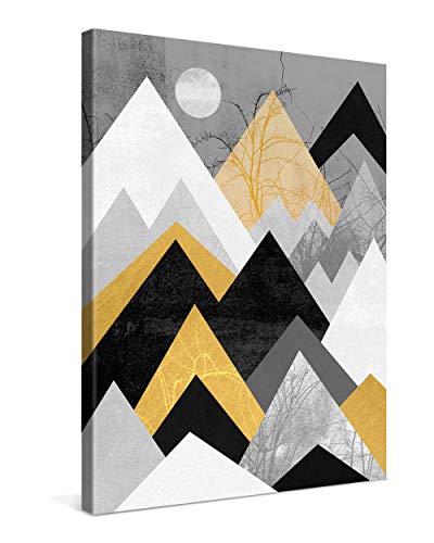 Gallery of Innovative Art Cuadro sobre Lienzo 30x40 cm Golden Mountains Impresión En Lienzo Montado sobre Marco De Madera (2cm) - Disponible En Varios Tamaños - Fotomural por Elisabeth Fredriksson