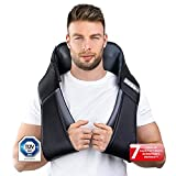 Donnerberg Neck and Shoulder Massager with Heat, Unique Massage Device with 2 Massage Techniques Shiatsu and Tapping, 7 Years Warranty German Quality
