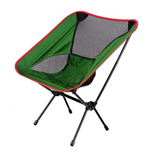 WJXBoos Silla Plegable para Acampar al Aire Libre, Silla Plegable portátil de Viaje de Aluminio para Acampar Senderismo Taburete de Pesca Taburete de Viaje (hasta 265 Libras)