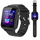 PTHTECHUS Smart Watch for Kids - Boys Girls Smartwatch with 2 Way Phone Calls SOS Games Music MP3 Player HD Selfie Camera Calculator Alarm Timer 12/24 Hours for 4-13 Years Old Students
