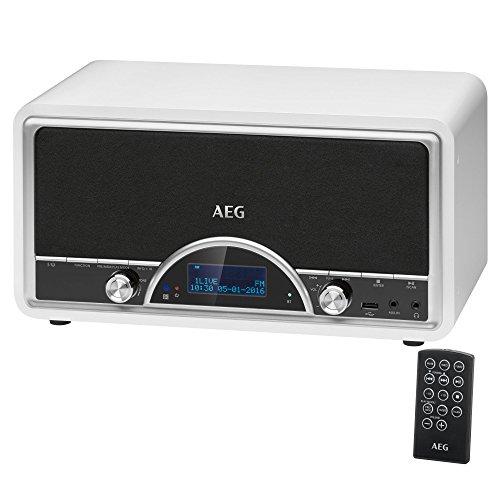 AEG NDR 4378 Nostalgie-Digitalradio mit Bluetooth und DAB+ AUX-IN USB-Port Kopfhöreranschluss (3,5 mm) weiß