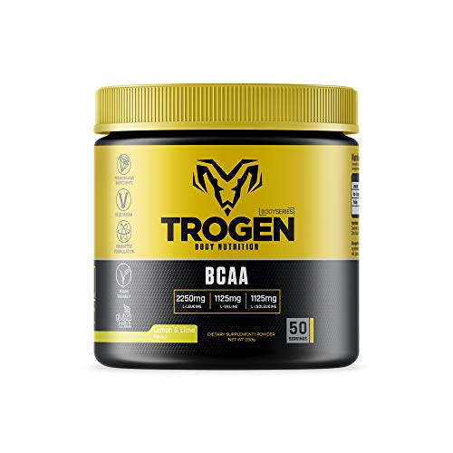 BCAA Powder Lemon & Lime Flavour - Trogen BCAA - Amino Acid Powder BCAA - 250g - 50 Servings - BCAA Powder Trogen Nutra